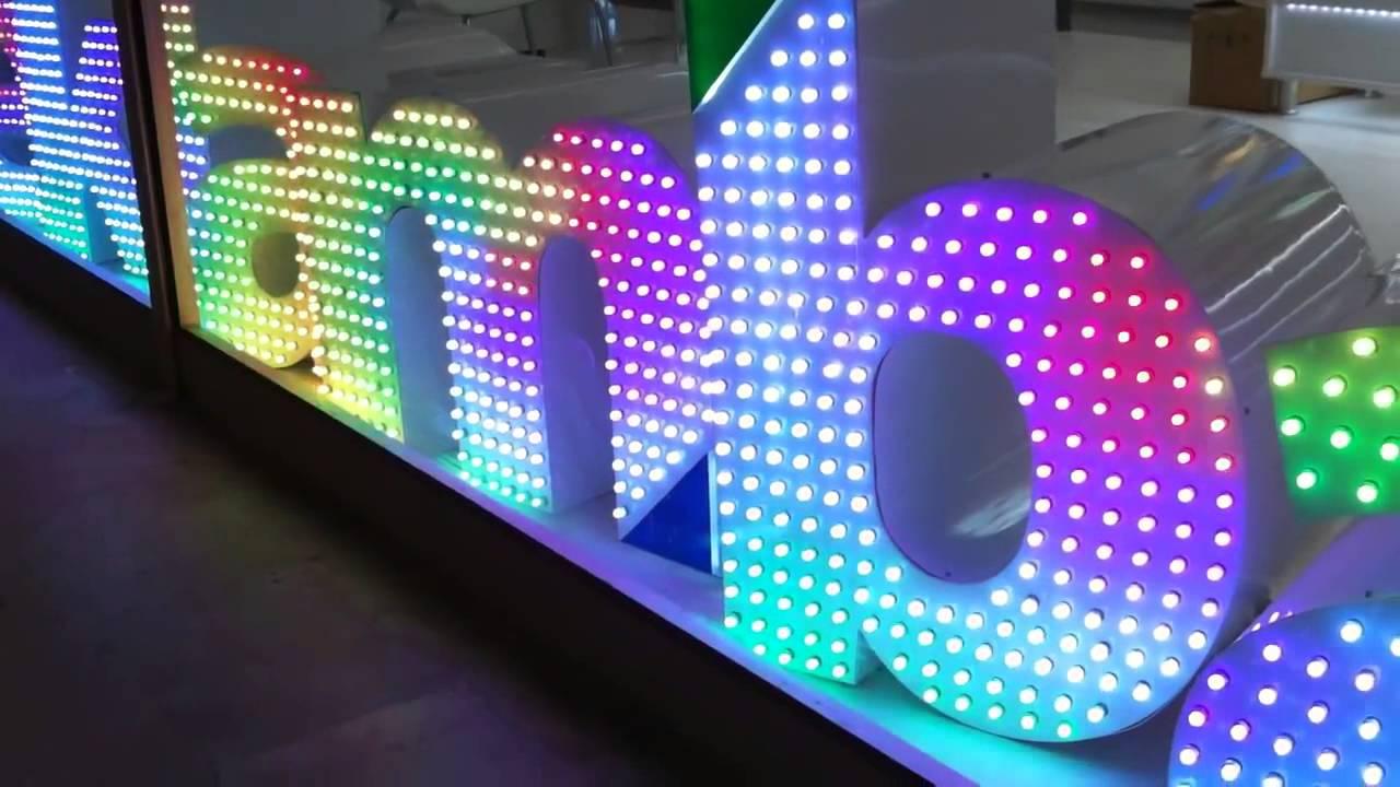 Как сделать световую вывеску 99