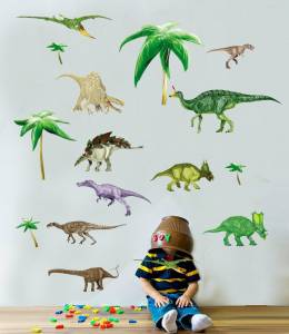 Dinosaur-Animals-world-Fees-shipping-Removable-PVC-font-b-Wall-b-font-font-b-Stickers-b