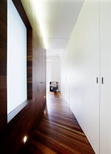 Laminate-flooring-Bright-corridor-Fascinating-hidden-light-Stainless-steel-door-knob