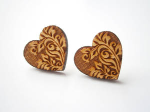 Laser Cut Stud Earrings By Evaldasdesignstudio-d5bvv98